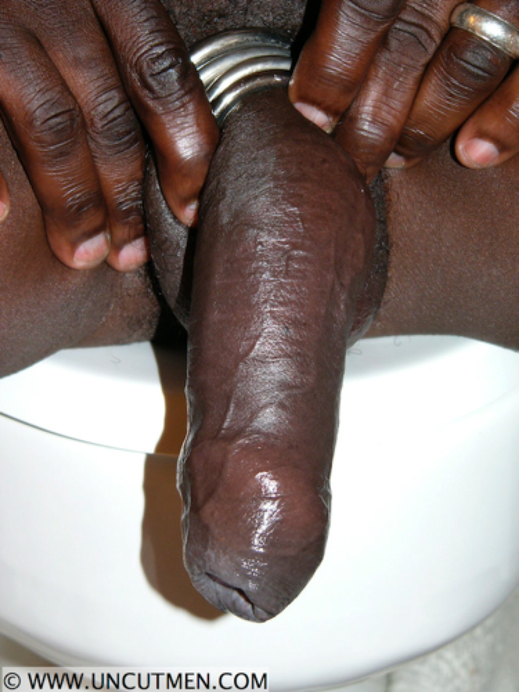 Uncut monster black cock